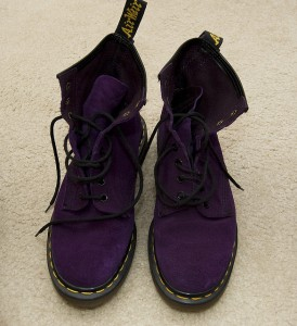 My purple suede Docs