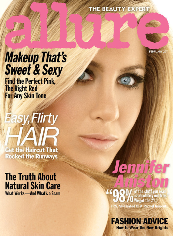 allure jennifer aniston photos