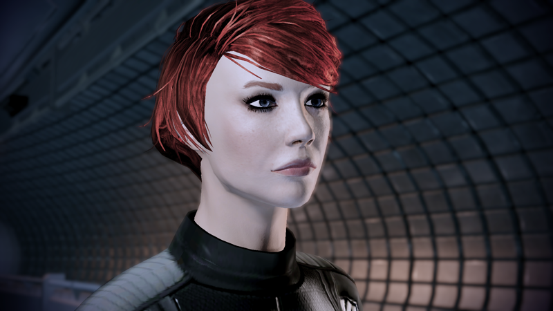Female Shepard, from Mass Effect 2. I took this image from the BioWare forums; if it's yours and you hate that I'm using it, let me know and I'll take it down.